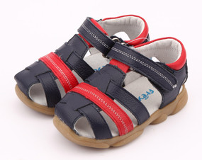 "Pre Order Freycoo ""Max"" Navy Leather Sandals"