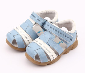 "Pre Order Freycoo ""Max"" Blue Leather Sandals"