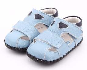 """Pre Order Freycoo """"Justin""""  Blue Soft Sole Leather Shoes"""
