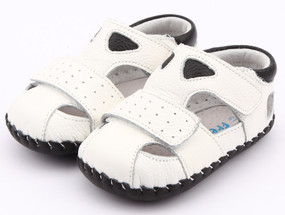 """Pre Order Freycoo """"Justin""""  White Soft Sole Leather Shoes"""