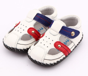"""Pre Order Freycoo """"Duncan""""  White Soft Sole Leather Shoes"""