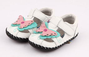 "Pre Order Freycoo ""Flutter""  White Soft Sole Leather Shoes"
