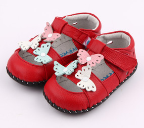 "Pre Order Freycoo ""Nevaeh""  Red Soft Sole Leather Shoes"