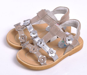 "Caroch ""Tammy"" Beige Leather Sandals"