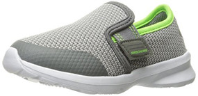 Skechers Skech-Stepz Power Stride Charcoal Lime Boys Shoes