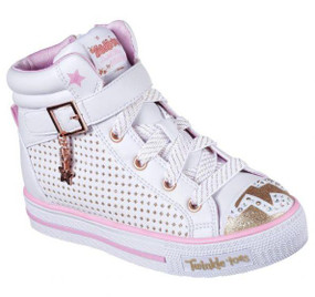 Skechers Twinkle Toes Pop Dazzle Light Up Girls High Tops