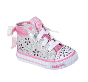 Skechers Twinkle Toes Shuffles Fancy Faves girls Light Ups