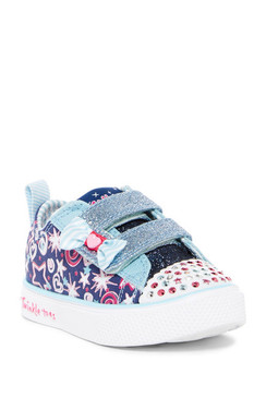 Skechers Twinkle Toes Razzle Up 2.0 blue girls Light Ups