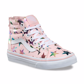 Vans Girls SK-8 Foil Stars Pink  Kids Shoes