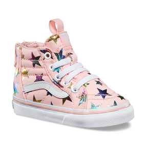 Vans Girls SK-8 Foil Stars Pink  Toddler Shoes