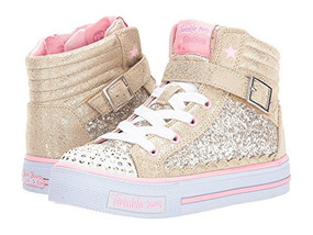 Skechers Twinkle Toes Glitter Girly Light Up Girls High Tops