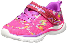 Skechers Bright Race Neon Pink girls runners