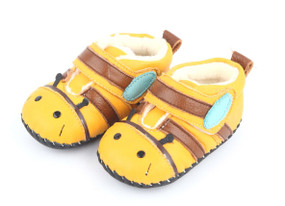 """Freycoo """"Bugs"""" Yellow Soft Sole Leather Boots"""