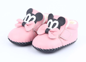 """Freycoo """"Minnie"""" Pink Soft Sole Leather Boots"""
