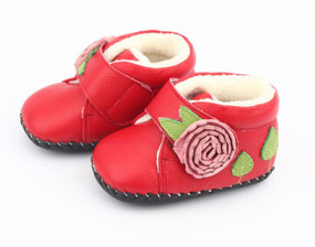 """Freycoo """"Rosie"""" Red Soft Sole Leather Boots"""