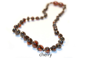Grace & Favour Baltic Amber Growing Child 38cm Necklace Cherry for Ages 5 +