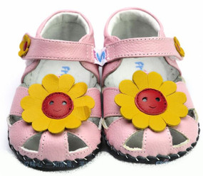 "Freycoo ""Sunflower"" Pink Soft Sole Leather Shoes"