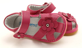 """Freycoo """"River"""" Hot Pink Leather Sandals"""