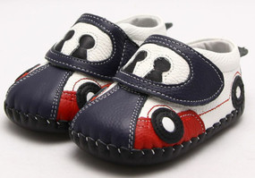 "Freycoo ""Racer"" Navy Soft Sole Leather Shoes"