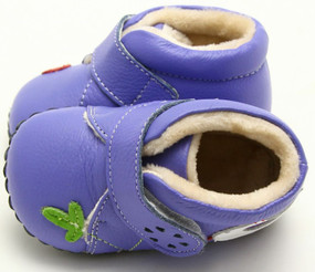 """Freycoo """"Maisie"""" Purple Soft Sole Leather Boots"""