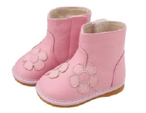 "Freycoo ""Stella"" Pink Leather Boots"