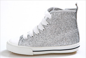 EZ Shoes Glitter High Tops Silver
