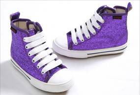 EZ Shoes Glitter High Tops Purple