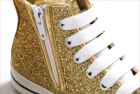 EZ Shoes Glitter High Tops Gold