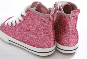 EZ Shoes Glitter High Tops Pink