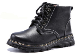 HB Mac Black Leather Boots Aus Size 9 1/2