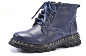 HB Mac Blue Leather Boots Aus Size 12
