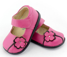 Tipsie Toes Tanner Pink Leather Shoe