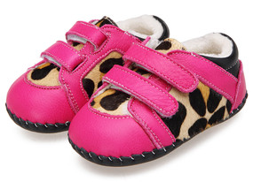 "Caroch ""Jungle"" Hot Pink Leather Soft Sole Shoes"