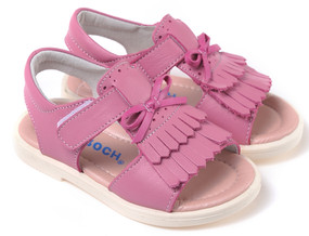 "Caroch ""Tassel"" Pink Leather Sandals"