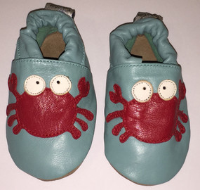 """Tipsie Toes """"Mr Crabs"""" Leather Soft Sole Shoes"""