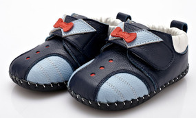 """YXY """"Tux"""" Navy Leather Soft Sole Shoes"""
