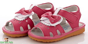 """YXY """"Serena"""" Hot Pink Leather Sandals"""