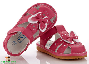 "YXY ""Amelia"" Hot Pink Leather Sandals"