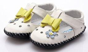 """YXY """"Dainty"""" White Leather Soft Sole Shoes"""