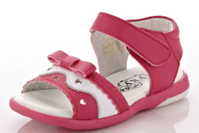"""YXY """"Aleesha"""" Hot Pink Leather Sandals"""