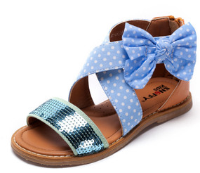 "Snoffy ""Jayne"" Blue Sandals"