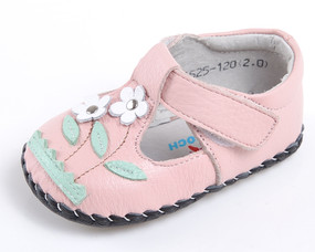 "Caroch ""Botanic"" Pink Leather Soft Sole Shoes"