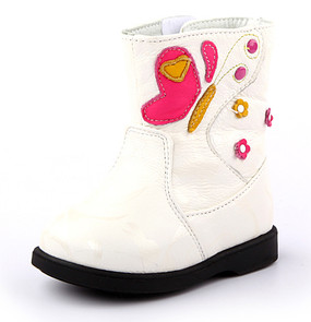 "Freycoo ""Flutterby"" Cream Leather Boots"