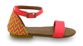 Mimpi Mannis Zigzag Girls Sandal Yellow/Pink