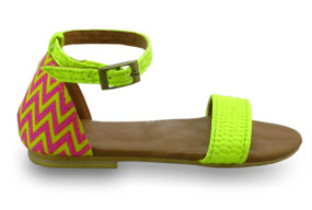 Mimpi Mannis Zigzag Girls Sandal Yellow