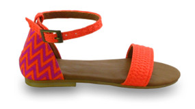 Mimpi Mannis Zigzag Girls Sandal Orange