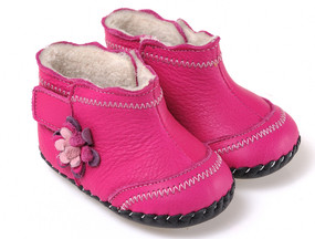 "Caroch ""Cherish"" Hot Pink Leather Soft Sole Boots"
