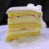 BANANA CREAM: moist layers of Yellow cake filled with creamy French Vanilla custard layered with fresh sliced bananas. (Please note: bananas may turn dark as they naturally ripen.) Add $3.