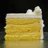 FRENCH VANILLA: moist layers of Yellow cake filled with creamy French Vanilla custard.