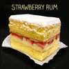 TOP SELLER ALERT: this flavor has been our best seller for over 39 years! Two layers of moist Yellow cake filled with our (non-alcoholic) Rum custard, layered with fresh strawberry slices, and topped with Lisa's Italian whipped cream. ADD $1.00.